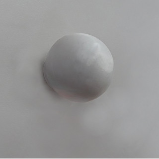 Ручка-кнопка, пластик, белая 412.001