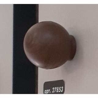 Ручка-кнопка, пластик, Орех Темный УТОЧНЯТЬ КОЛИЧЕСТВО У МЕНЕДЖЕРА