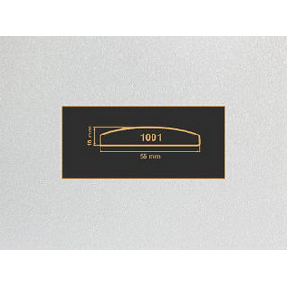 1001 алюминий накладка МДФ 2800