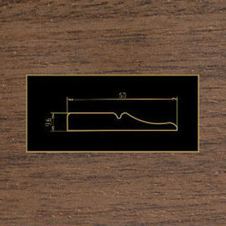 1005 орех темный накладка МДФ 2800