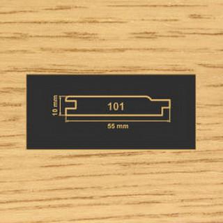 101 дуб накладка МДФ 2620