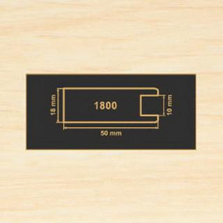 1800 дуб молочный рамочный профиль МДФ 2800