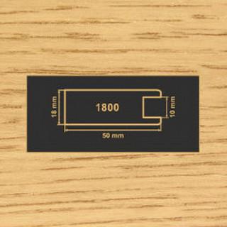 1800 дуб рамочный профиль МДФ 2800