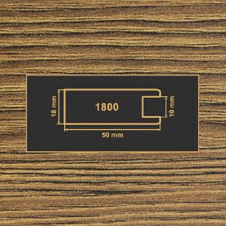 1800 дуб родос темный рамочный профиль МДФ 2800
