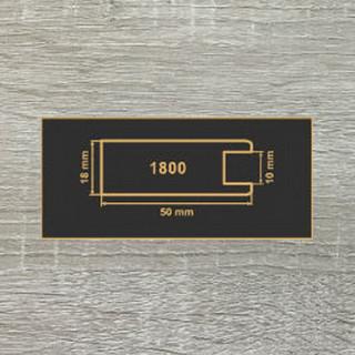 1800 Дуб Сонома серый МДФ 2800