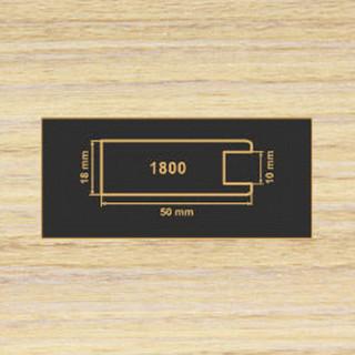 1800 зебрано песочный рамочный профиль МДФ 2800