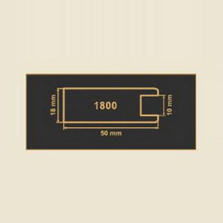 1800 кремовый рамочный профиль МДФ 2800