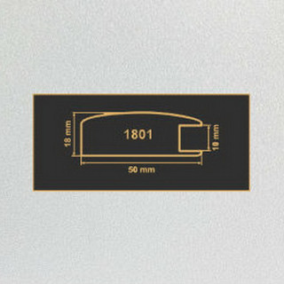 1801 алюминий  рамочный профиль МДФ 2800