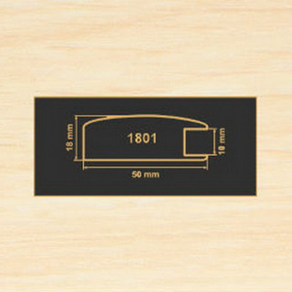 1801 дуб молочный рамочный профиль МДФ 2800
