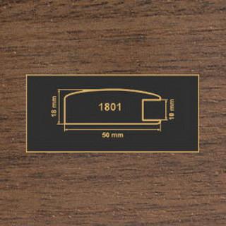 1801 орех темный рамочный профиль МДФ 2800