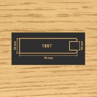1807 дуб рамочный профиль МДФ 2800