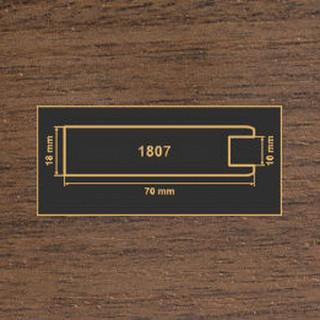 1807 орех темный рамочный профиль МДФ 2800