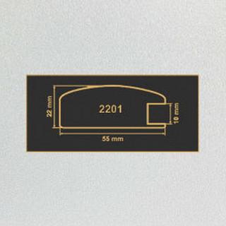2201 алюминий рамочный профиль МДФ 2800