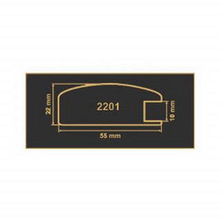 2201 белый рамочный профиль МДФ 2800