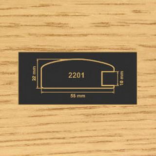 2201 дуб рамочный профиль МДФ 2800