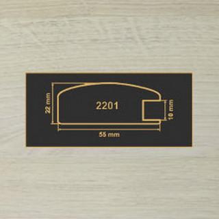 2201 дуб шамони светлый  МДФ 2800
