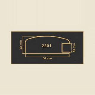 2201 кремовый рамочный профиль МДФ 2800