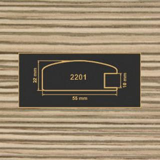 2201 лиственница рамочный профиль МДФ 2800