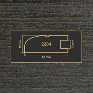 2204 венге рамочный профиль МДФ 2800
