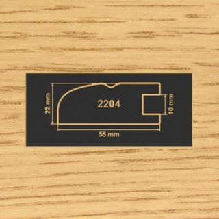 2204 дуб рамочный профиль МДФ 2800