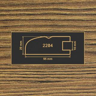 2204 дуб родос темный рамочный профиль МДФ 2800