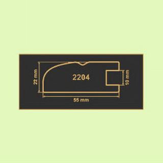 2204 зеленая вода рамочный профиль МДФ 2800