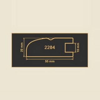2204 кремовый рамочный профиль МДФ 2800