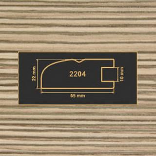 2204 лиственница рамочный профиль МДФ 2800