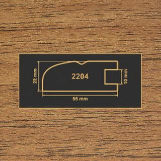2204 орех лесной рамочный профиль МДФ 2800