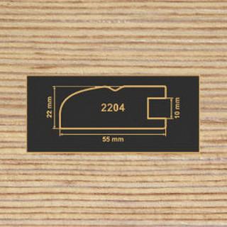 2204 фино-бронза рамочный профиль МДФ 2800