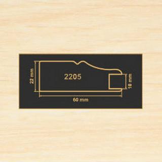 2205 дуб молочный рамочный профиль МДФ 2800