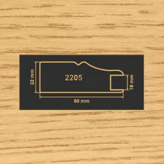2205 дуб рамочный профиль МДФ 2800