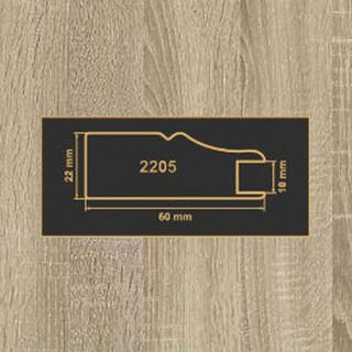 2205 Дуб Сонома рамочный профиль МДФ 2800