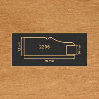 2205 ольха рамочный профиль МДФ 2800