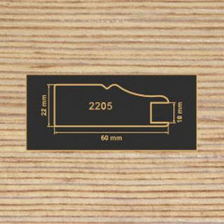 2205 фино-бронза рамочный профиль МДФ 2800