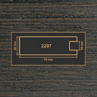 2207 венге рамочный профиль МДФ 2800
