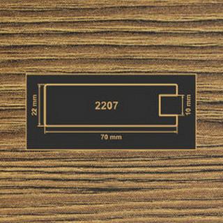 2207 дуб родос темный рамочный профиль 2800 МДФ