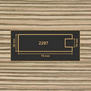 2207 лиственница рамочный профиль МДФ 2800