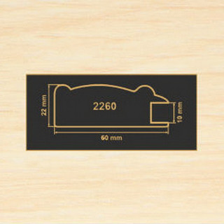 2260 дуб молочный профиль МДФ 2800