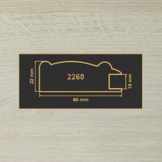 2260 дуб шамони светлый профиль МДФ 2800