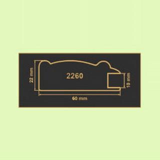 2260 зеленая вода рамочный профиль МДФ 2800