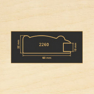 2260 клен рамочный профиль МДФ 2800