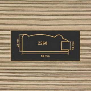 2260 лиственница рамочный профиль МДФ 2800