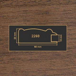 2260 орех темный рамочный профиль МДФ 2800