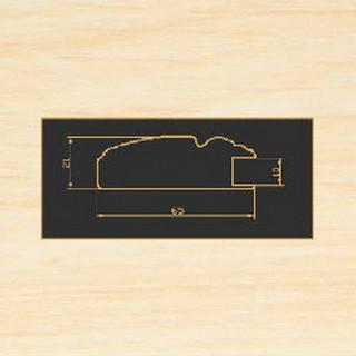 2265 дуб молочный рамочный профиль МДФ 2800
