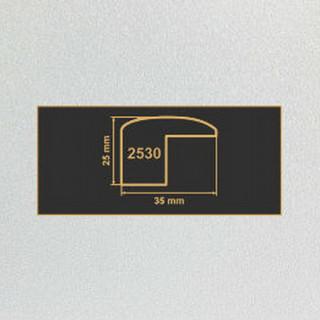 2530 алюминий накладка угол  МДФ 2800