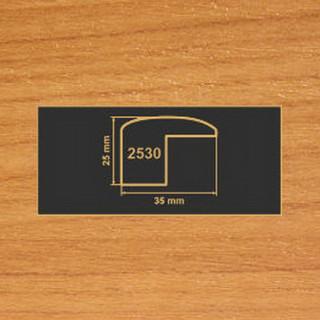 2530 вишня накладка угол  МДФ 2800