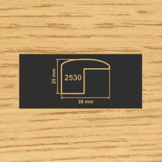 2530 дуб накладка угол  МДФ 2800