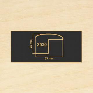 2530 клен танзау накладка угол  МДФ 2800