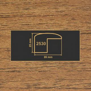 2530 орех лесной накладка угол  МДФ 2800